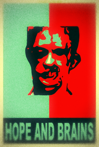 Blogger pro tip: it's hard to Obamafy a zombie image