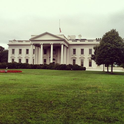 White House Flag Half Mast