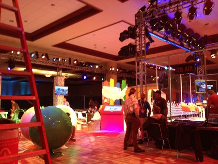The Google Party Set-up